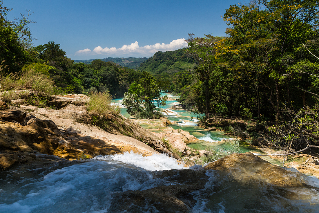 Aqua Azul waterfall, Chiapas, Mexico