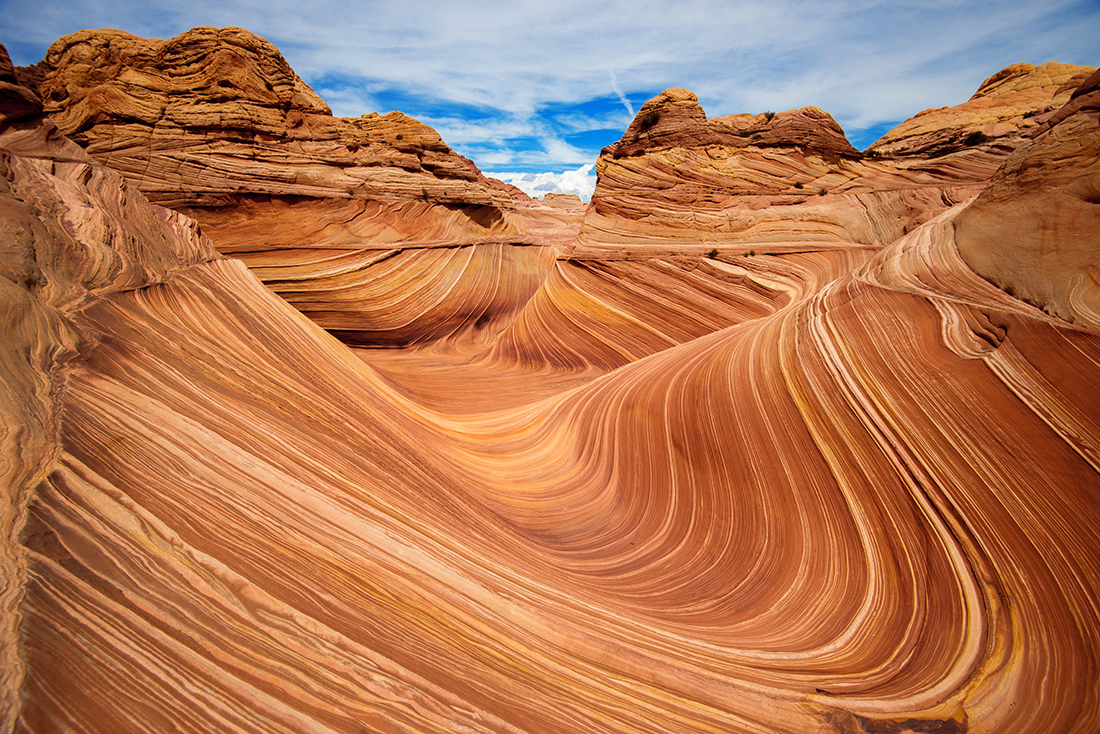 Unique sandstone, The Wave, Arizona