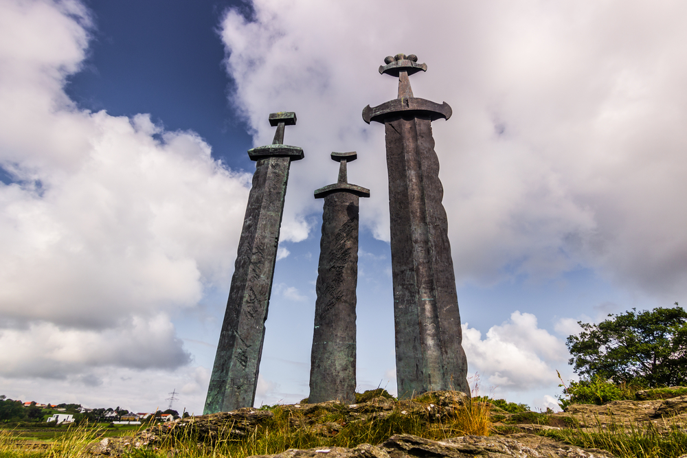 Viking monument, Stavanger, Norway