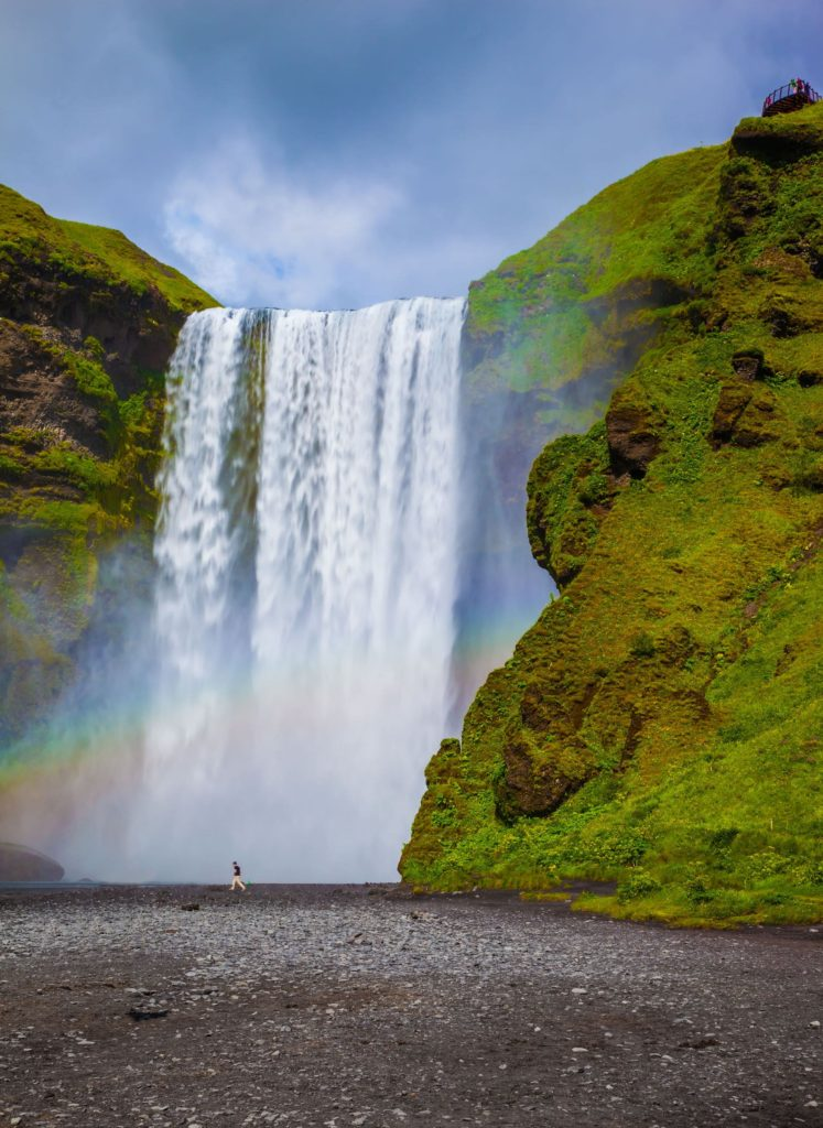 The famous waterfall Skógafoss, Iceland