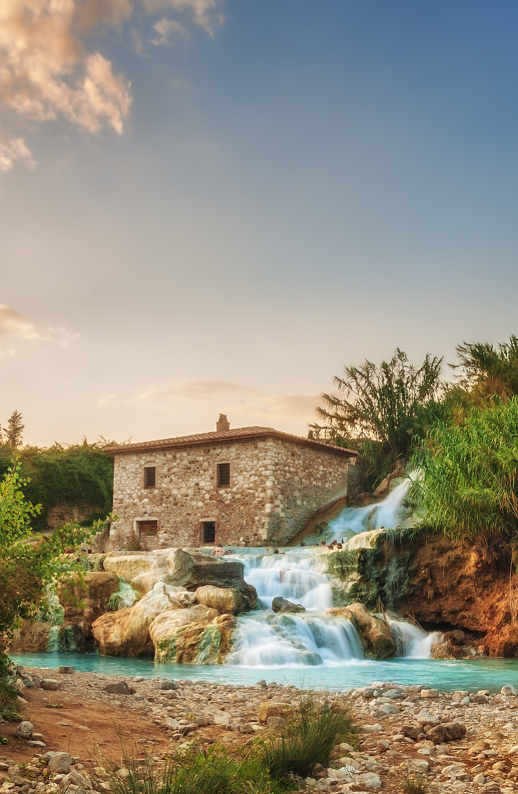Saturnia, Tuscany, Italy