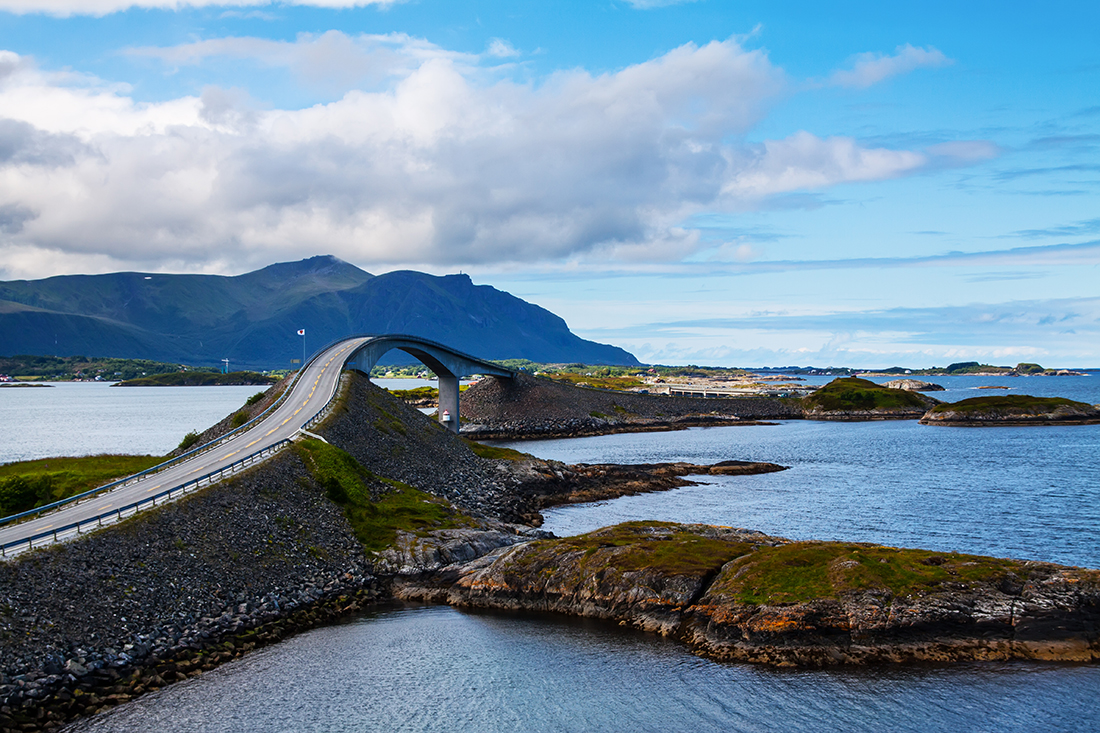 Attraction of middle, Atlantic Road, Norway