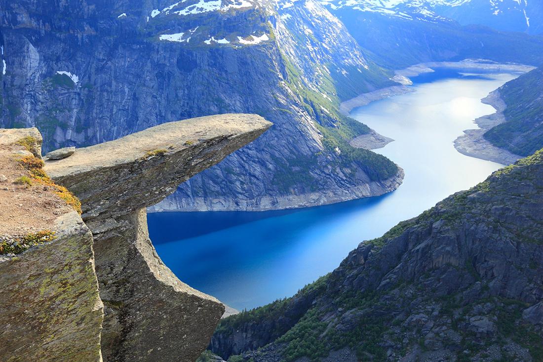 Trolltunga rock, Ringedalsvatnet lake, Norway