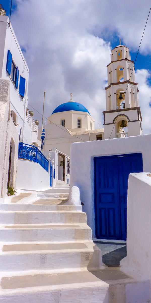Church in Santorini island, Cyclades, Greece