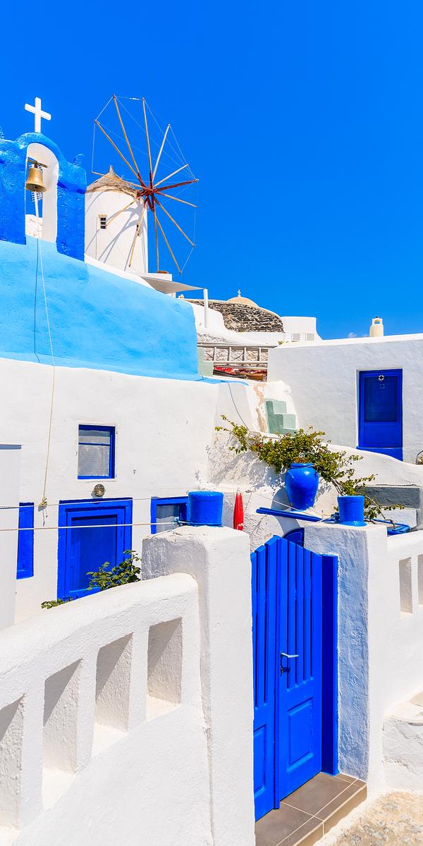 Typical Greek house, Santorini, Greece
