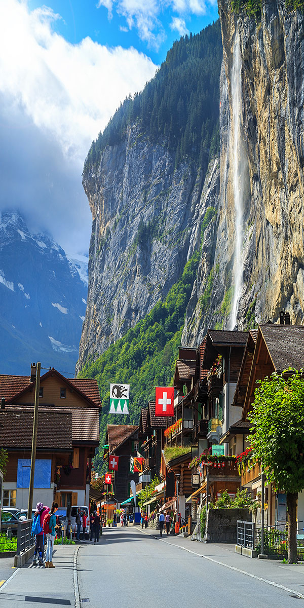 Staubbach waterfall, Bernese Oberland, Switzerland
