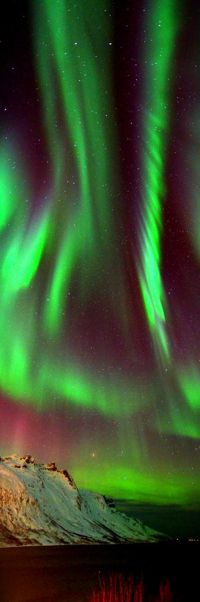 Aurora Borealis, Ersfjorden, Tromso, Northern Norway