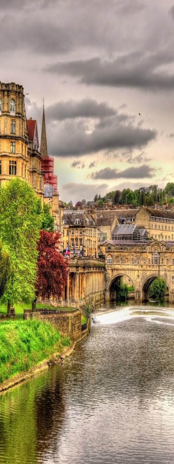 Bath, river Avon, England