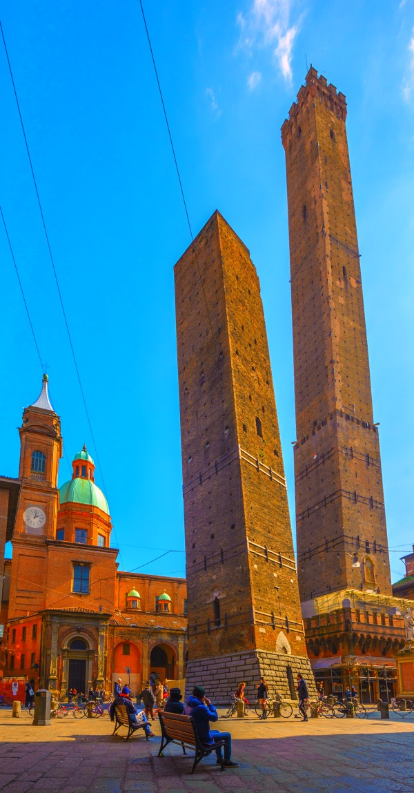 The Two Towers of Bologna, Asinelli and Garisenda, Italy
