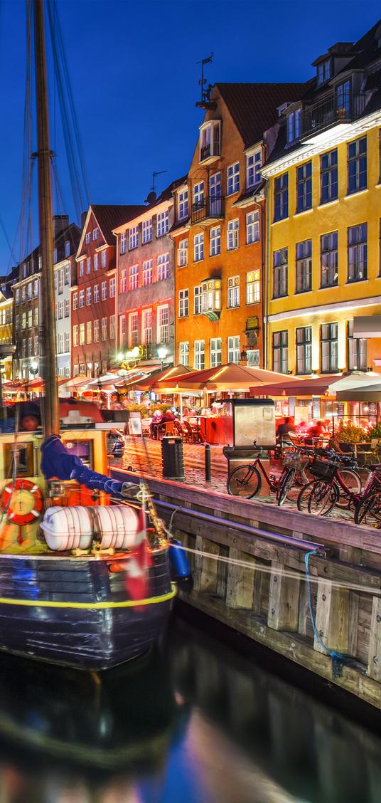 Copenhagen, Denmark on the Nyhavn Canal