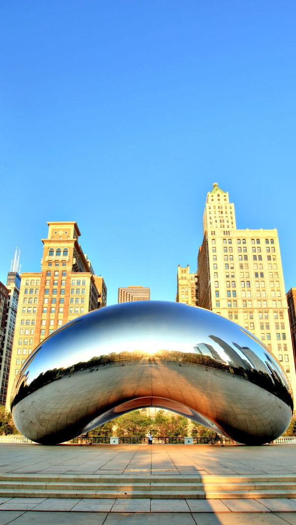 The Bean in Millennium Park at Sunrise, Chicago