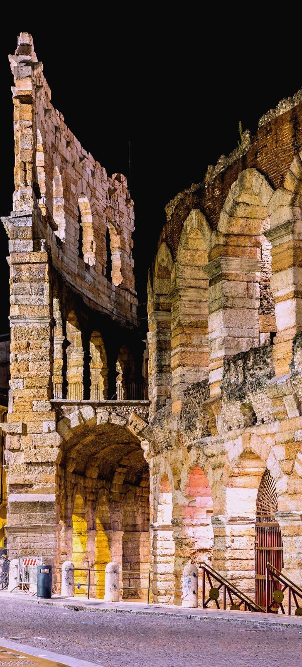Verona Arena in a beautiful summer night in Verona, Italy